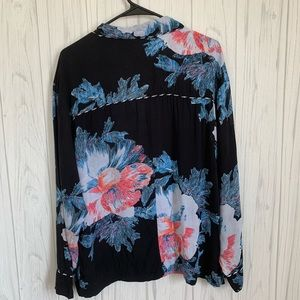 Free People Intimates & Sleepwear - Intimately Free People Black Floral Pajama Top